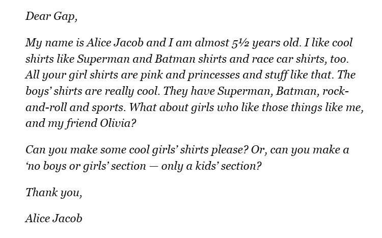 Alice's Letter