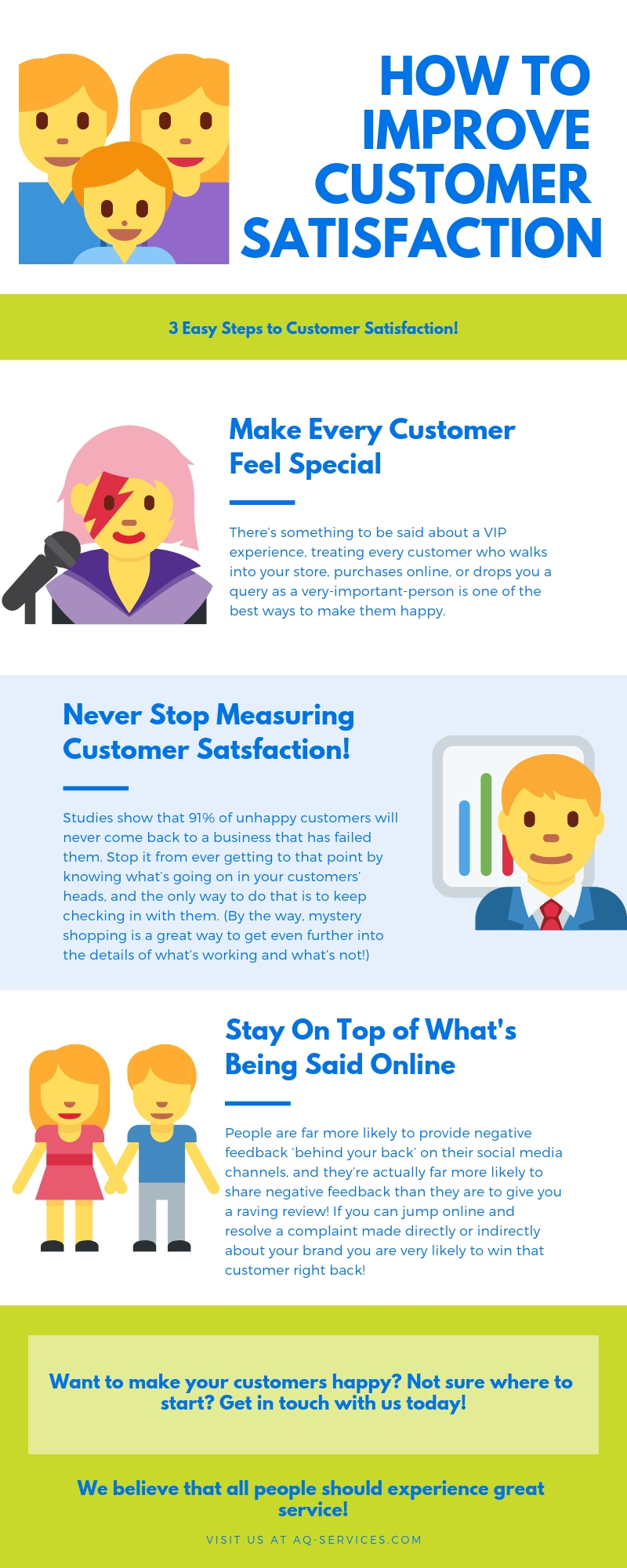 How to improve customer satisfaction in 3 easy steps