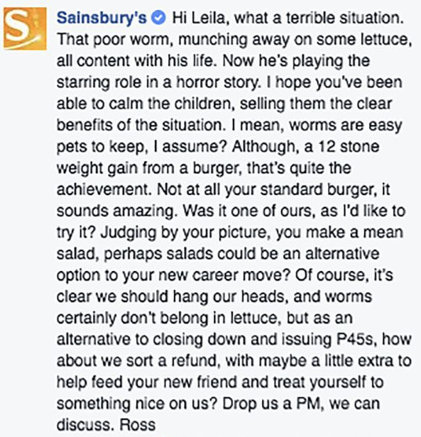 Understanding Customer Service - Sainsbury - Ross